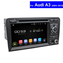 2 Din Touch Screen Car Radio for Audi A3 DVD Player with GPS Navigation TV 3G WIFI Bluetooth USB PC Android Multimedia Player(China)