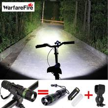 Warfarefire Cycling bicycle bike light 2300 Lumen Zoomable CREE XM-L Q5 LED flashlights lamps+bracket of 360 degree adjusted kit