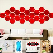 3d Stickers Diy Wall Sticker Decoration Mirror Wall Stickers for TV Background Kids Room & Living Room Wall Art Decor 6ZCF003-2
