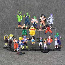 Dragon Ball Z GT Action Figures Crazy Party 10CM Cell/Freeza/Goku PVC Dragonball Figures Best Gift 20pcs/set Free Shipping