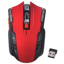mouse 2.4GHz USB Wireless Optical Mice 1000-1200-1600-2400DPI Pro Game Mouse Human Engineering Brand new computer accessories(China)