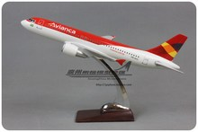 Brand New 1/100 Scale Airplane Model Toys 32cm Avianca Airbus A320 Resin Plane Model Toy For Gift/Kids/Collection/Decoration