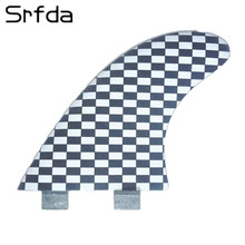 srfda 2017 hotsales FCS G7 surf fins with fiberglass honeycomb for surfing size L 3pcs/set