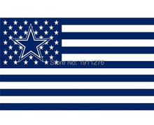 Dallas Cowboys USA flag with star and stripe 3x5 FT Banner 100D Polyester NFL flag(China)