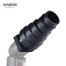 Andoer Conical Flash Snoot Light Modifier w/ 50 Degree Honeycomb Color Filter Universal for Photography On-camera Speedlite