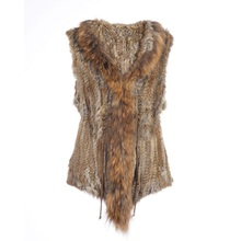 New Fashion Rabbit Fur Vest Coat High Quality Real Fur Genuine Raccoon Fur Coats For Women Winter Outerwear Band Waistcoat CT308(China)