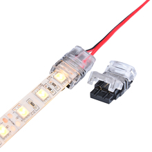 5pcs 2pin LED Strip to Wire Connector for 10mm Single Color IP65 Waterproof SMD 5050 5630 LED Tape Light Connection Conductor