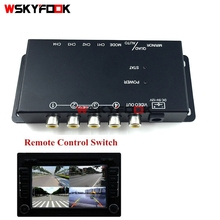 Car 4-Way Video Switch Parking Camera 4 View Image Split-Screen Control Box Kits(China)
