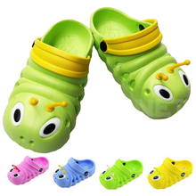 Hot Sell Cute Cartoon 3D Caterpillars Kids Slippers Childrens's Baby Girls Boys Shoes EVA Breathable Sandals Slipper 3-11 Year(China)