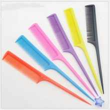 6pcs/set 2017 new colorful plastic long hair combs hair cosmetic comb lightwet easy to use anti-electricty health hair care tool
