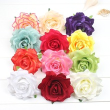New  Woman Cloth Art Hair Accessories Baby Rose Fabric Flower  Hairpin Princess Silk Barrettes Ornaments Children's hair clip