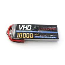 VHO 2S Li-polymer Lipo Battery 7.4V 10000mah 25C 1PCS For S800 S900 S1000 Helicopter RC Model Quadcopter Airplane Drone(China)