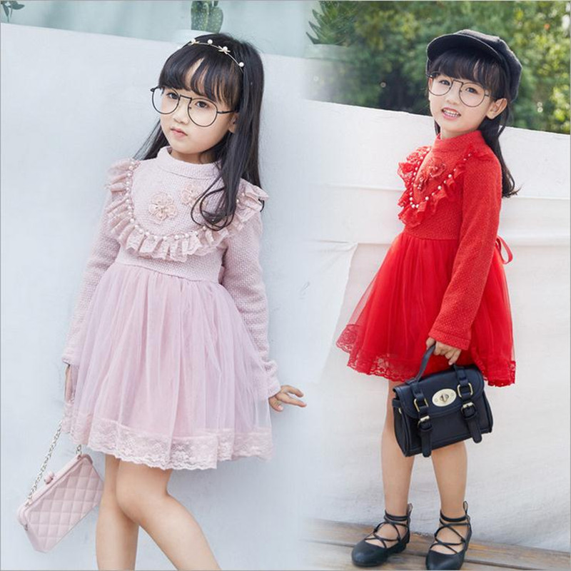 Toddler Girls Clothing 2016 Princess Flower Girls Dresses For Party And Wedding Baby Girls Long Sleeve Dress For 2-7Years<br><br>Aliexpress