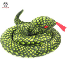 BOLAFYNIA Children Plush Stuffed Toy Baby Kids Toy for Christmas Birthday Gift Simulation dish snake novelty gift(China)