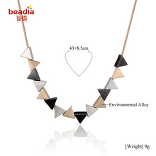 2017 Hot Sale 1pc/bag European and American Alloy Geometric irregular shape Necklace for Women Men Fashion Jewelry Gifts