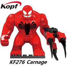 KF276 Super Heroes The son of Toxin Venom Carnage Hulk Buster Green Goblin Groot Building Blocks Bricks Gift Toys For Children(China)