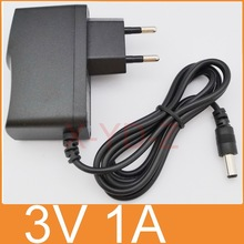 1PCS 3V1A New AC 100V-240V Converter power Adapter DC 3V 1A 1000mA Power Supply EU Plug DC 5.5mm x 2.1mm Free post shipping