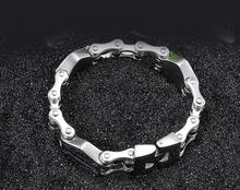 24cm * 19mm Heavy Fashion Punk 316L Titanium Stainless Steel Bike Bracelet Men's Biker Bicycle Motorcycle Chain Bangle jewelry