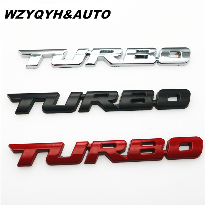 3D Car Emblem Sticker TURBO METAL GRILL Rear Trunk Car Badge for Audi BMW Ford focus VW skoda seat Peugeot lada Renault Hyundai(China)