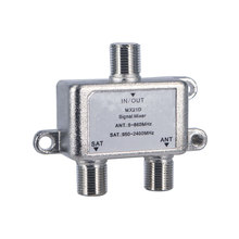 Practical 2 Way Cable Satellite Splitter TV Signal Satellite Sat Coaxial Diplexer Combiner Splitter Combiners Cable Switch Swi