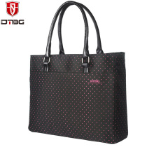DTBG Women 15 15.6 inch Laptop Handbag Totes Lovely Dots Girl Briefcase for ASUS MacBook 13 15 inch Super Light Computer Bag