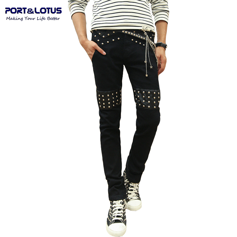 Port&amp;Lotus Fashion Casual Jeans New Arrival With Zipper Fly Solid Color Midweight Pencil Pants Slim Fit Jeans Men 093 wholesaleОдежда и ак�е��уары<br><br><br>Aliexpress