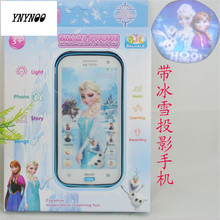 YNYNOO Snow Queen Toy Phone Talking Princess Anna Elsa Phone Mobile Learning & Education Baby phone Electronic Children Toys(China)