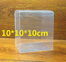 10*10*10cm Free Shipping clear PVC boxes wholesale clear plastic gift box(China)