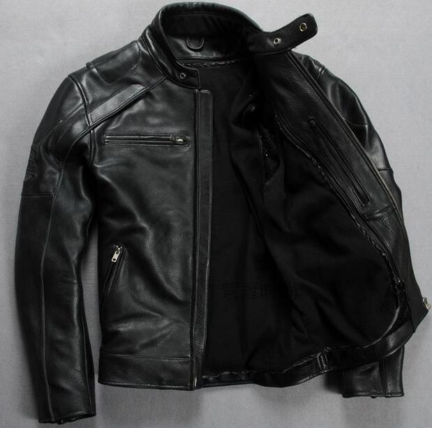 Skulls Men Clothing Short Skull Heads Plus Genuine Leather Jacket Man Cow Leather Jacket Man Coat Winter Jacket Size S-XXL