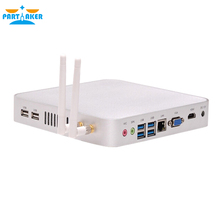 Linux Embedded Intel Celeron 1037U Processor Windows Fanless Mini PC with HDMI VGA Native USB 3.0