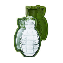 3D Ice Cube Mold Shape Army Green Fun Tool Kitchen Decorating Tool Ice Cream Making Molds Silicone Ice Cake Mold(China)