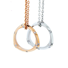 2016 Hot Classic Love Rose Gold Plated Austrian Crystal Waterdrop Health Pendant Necklace Chain For Women Many Colors For Choose