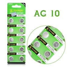 Hot selling watch Battery 10 Pcs 1.55V AG10 LR54 LR1130 L1131 389 189 Alkaline Batteries Button Cell Coin 51%off