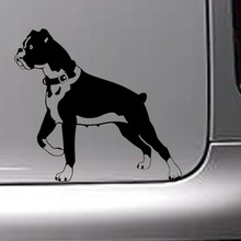 15.2*14CM 10 Colors Factory Outlets Funny Animals Car Stickers Boxer Dog Personality Classic Decoration Decal