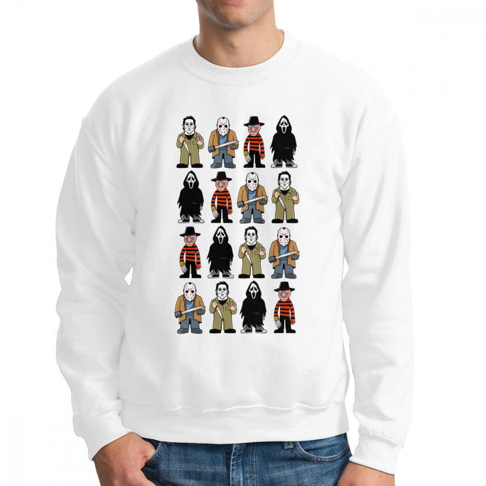 Slashers Michael Myers Friday The 13th Horror Men's Sweatshirts Novelty 100% Cotton Crewneck Pullovers Designs Hoodie Apparel