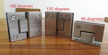 SUS304 Stainless Steel Hinges Wall installation Glass Shower Door hinges For Home Bathroom Furniture hinges(China)