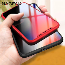 Buy NAGFAK 360 Degree Full Cover Cases iPhone X 10 Case Cover iphone X 10 Phone Case Capa Tempered Glass for $2.96 in AliExpress store
