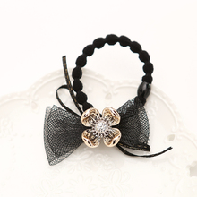 Flower hair band crystal accessories hair band women's scrunchy fashion hair style free shopping 3121