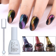 BORN PRETTY 3D Chameleon Cat Eye Magnetic UV Gel Polish Double-head Magnet Slice Board Soak Off Gel Varnish Lacquer 10ml(China)