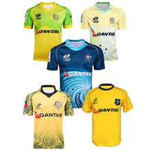 16-17 Austral rugby shirt Men Polyester Jersey Top Quality Breathable quick dry Austral Rugby Jerseys Blue yellow S-3XL KUV12(China)