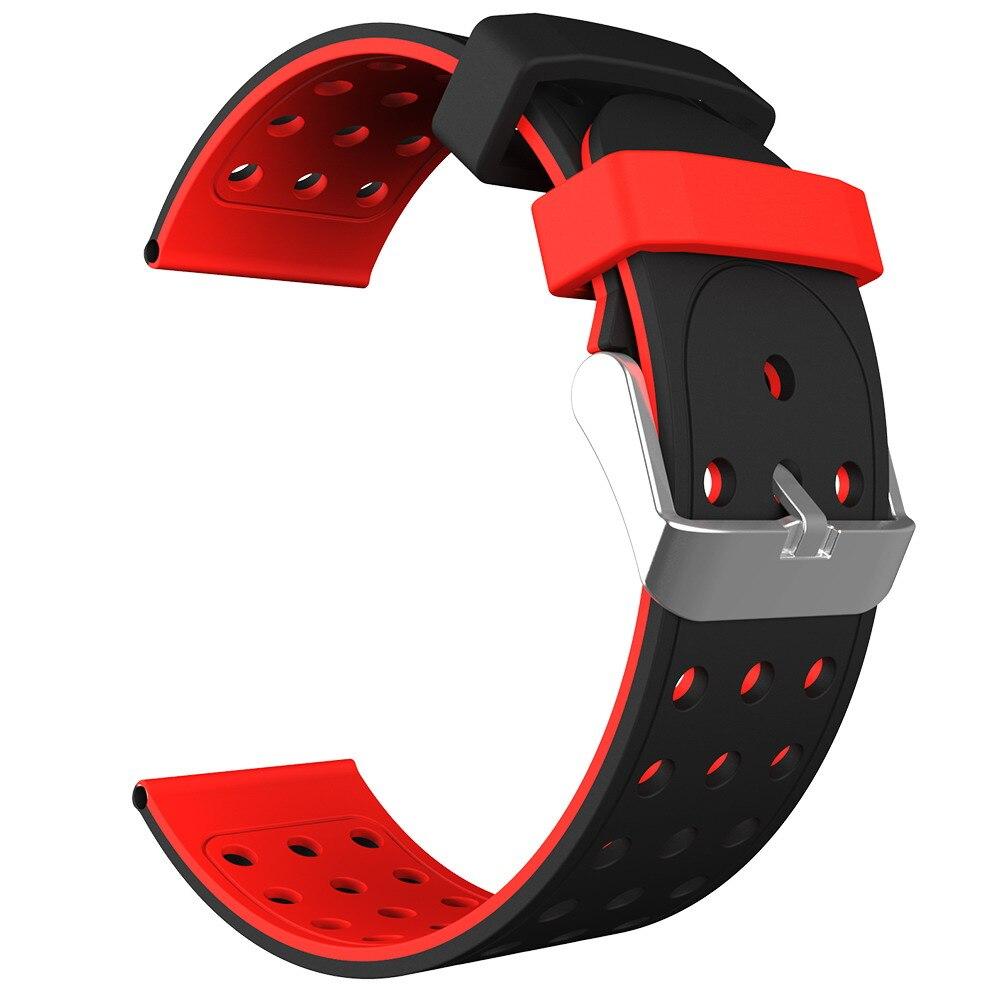 22mm Universal Silicone Watch bracelet Strap belt Double-color Watch band amazfit (1)
