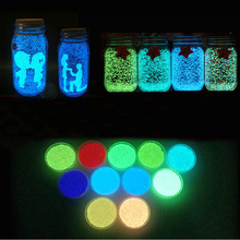 Hot Colorful Fluorescent Super luminous Particles Glow Pigment Bright Glow Sand Glow in the Dark Sand Home Decor Party Xmas