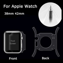 For Apple Watch 38mm 42mm Full Body Screen Protector Front Back All Side Skin Guard Film Cover