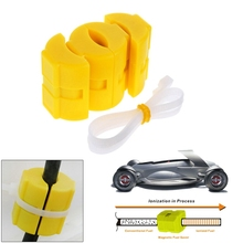 Universal Magnetic Gas Fuel Power Saver For Car Vehicle Reduce Emission Car Magnetic Fuel Saver Yellow Color ABS High Quality(China)