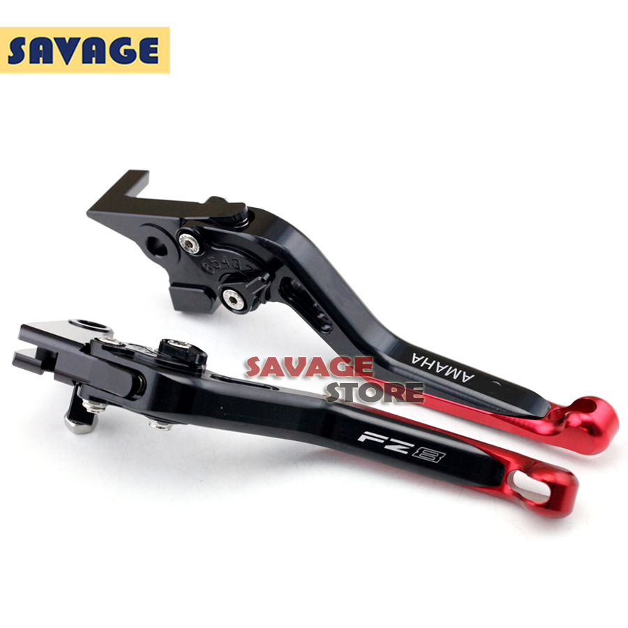 For YAMAHA FZ-8 FZ8 2010 2011 2012 2013 2014 Motorcycle Accessories CNC Aluminum Extendable Brake Clutch Levers Extending Red<br>
