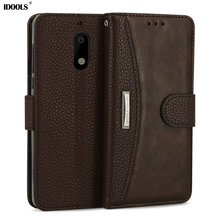 IDOOLS for Nokia 6 Case Luxury PU Leather Brand Dirt Resistant Wallet Cover Phone Bags Cases for Nokia 6 TA-1000 TA1003 5.5 Inch(China)