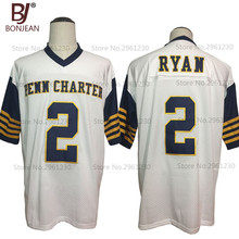 Cheap New American Football Jersey Matt Ryan 2 William Pen n Charter School White Football Jersey Throwback Stitched Mens Shirts(China)