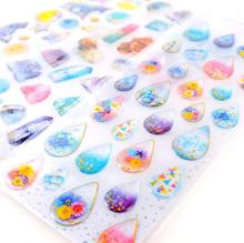 Dazzling 3D Gemstone Waterdrop Various Designs Decorative Stickers Diary Sticker Scrapbook Decoration PVC Stationery Stickers(China)