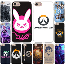 Overwatch ow Game  Hard White Cover Case for iPhone 7 7 Plus 6 6S Plus 5 5S SE 4 4S