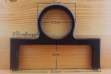 dark brown wooden purse frame 12 1/2 inch x 9 inch (purse making supplies) M28(China)
